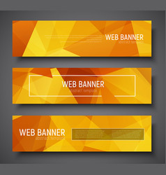 set of web banner standard size template with vector image