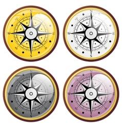Set Wind rose compass flat symbols vector image vector image