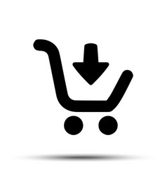 Shopping cart icon flat design best vector