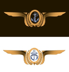 T-shirt empire naval aviation badge vector