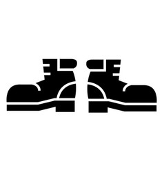 travel boots icon black sign vector image
