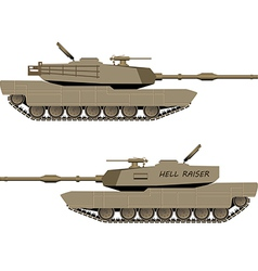 World War Tank vector image
