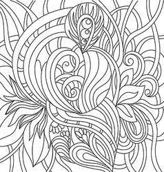 Black and white pattern in a zentangle style vector