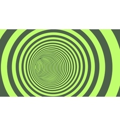 Green Circle Striped Abstract Tunnel vector image