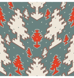 decorative forest vector image