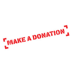 make a donation rubber stamp vector image