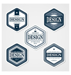 Awesome badges template vector