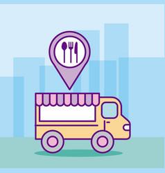 Fast food truck vector
