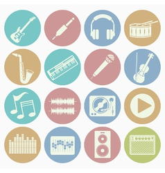 White icons music vector