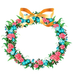 Retro wreath vector