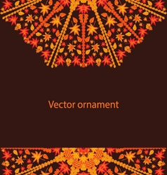 Autumn circular ornament vector