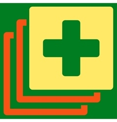 Medical documents icon vector