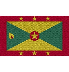Flags grenada on denim texture vector