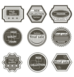 Set quality mark vintage labels sale vector