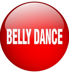 Belly dance red round gel isolated push button vector