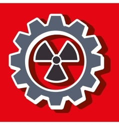 Signal of radiation isolated icon design vector