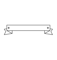decorative ribbon banner vector image