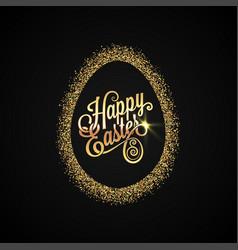 Easter egg golden design background vector