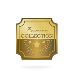 exclusive collection sale golden badge gold label vector image vector image