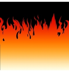 Fire flames on a black background vector image vector image