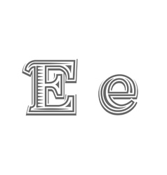 Font tattoo engraving letter e vector