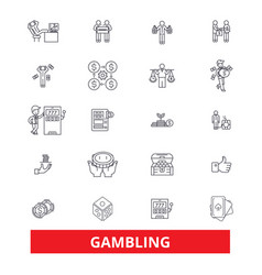 Gambling casinopoker roulette slot machine vector