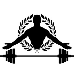 glory of bodybuilding vector image vector image