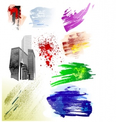 grunge brushes pack vector image vector image