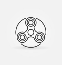 hand triple spinner simple icon vector image vector image