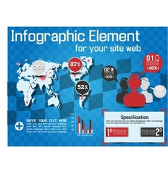 INFOGRAPHIC MODERN STYLE WEB ELEMENT vector image vector image