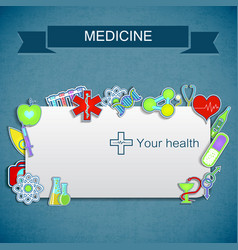 Medical care background vector