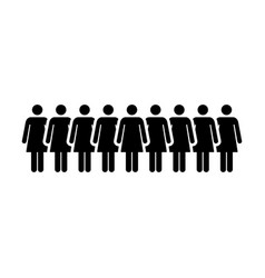 people icon group of women team person symbol sign vector image vector image