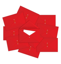 Red envelope on top vector image