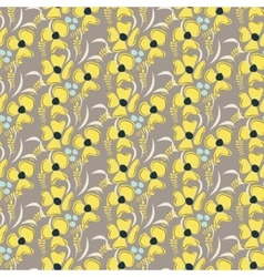 Romantic flower seamless pattern vector
