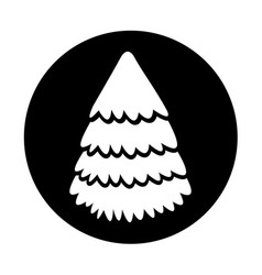 round icon christmas tree vector image