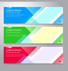set of horizon abstract colorful display banner vector image vector image