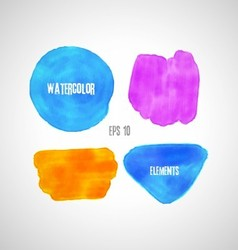 set of watercolor elements vector image vector image