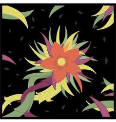 Threefold flower vector image vector image