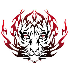 Tiger image design tattoo emblem vector