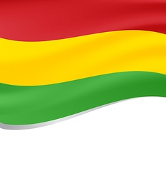 Waving flag of Bolivia isolated on white vector image vector image