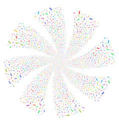 Wrench fireworks swirl rotation vector