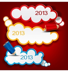 Colorful bubbles for speech 2013 New Year vector image