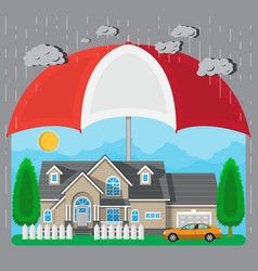 House and car protection concept vector