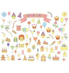 Birthday icons vector
