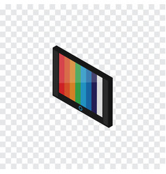 Isolated wall tv isometric television vector