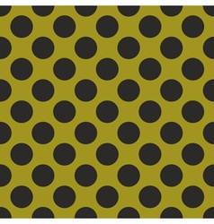 Black tile polka dots on green background vector image