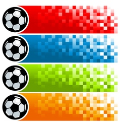 Colorful Soccer Pixel Banners vector image