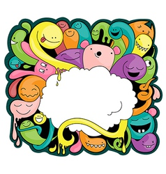doodle around a cloud vector image