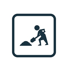 Construction works icon rounded squares button vector