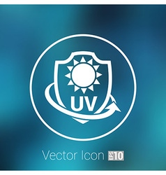 Icon label or sticker anti uv protection vector